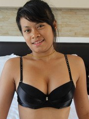 Busty short-haired Filipina strips down and gets fucked