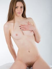 She has a beautiful little twat ready for you and she is proud to show every inch