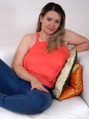 Naughty housewife Anastasiya is an exotic milf with lush tits that she loves to have