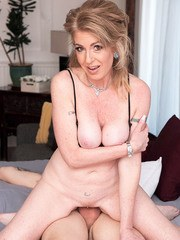 Now 50 Sindi Star returns for young cock!