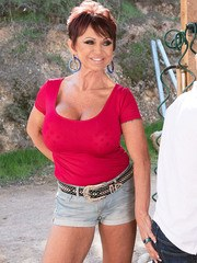 60Plus Gina Milano fucks the 26-year-old stablehand