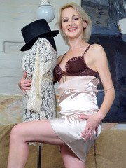 Check out mature housewife Artemia a Russian babe with a slim figure and perfect