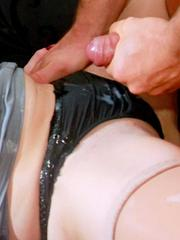 Superb clubber babes sucking dicks and getting facialized