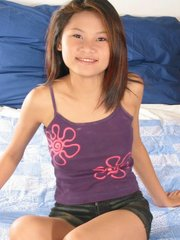 Erect and aroused puffy nipples on this Thai babe