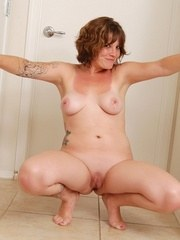 Jen naked and spread