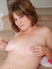 Jen naked on the stairs