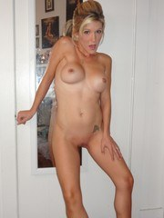 Tiny blonde milf with a wet pussy