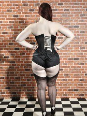 Mmmmm stunning black nylon stockings on some gorgeous pale white skin. The contrast