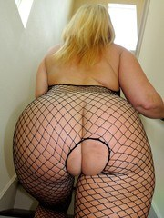 Today I wore a fishnet bodysuit knowing how much you love my curvy body in it. Thought