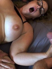 Feeling horny as fuck so I asked hubby to get me some dicks. He invited over a few