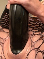 Wow! These MONSTER TOYS feel great inside my married pussy. Stretching me until I