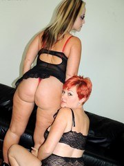 and playing with strange cocks made both of us slutwives come so hard.double teaming