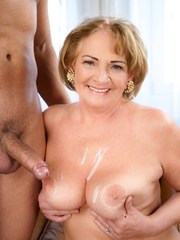 Naughty granny Sally has her young hot boyfriend Mugur come over. Shes feeling horny