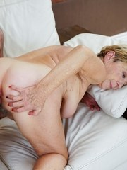 Young Rob is happy to spend a little time with horny and luscious granny Malya. Lucky