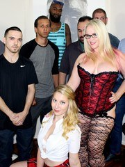 Its time for our new Siren Lila Frey to join my hotwife in a blowbang. We called