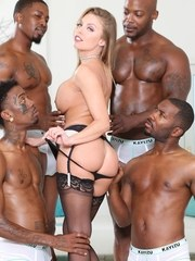 Superstar Britney Amber gets the blacked out treatment as she meets the swinging