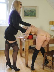 Faye has been caught with a boy and has been sent to Deputy Elises office who is