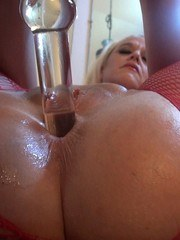 If you like seeing a curvy blonde MILF with a big white ass abuse her married pussy