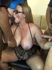 Asked hubby to invited a few guys over for a blow bang. This time instead of them