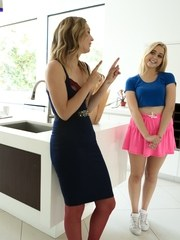 Chloe Cherry is a blond chick with a natural body and an appetite for eating pussy.