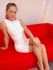 Perfect babe Kate shows her best Sharon Stone impression from Basic Instinct in a