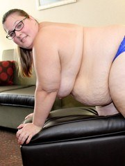 Marrried BBW Ashley Bangs is back for more dicks. While her husband is at home she