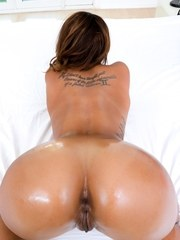 Ebony stunner Harley Dean tempts us with her big boobs and sexy butt as director