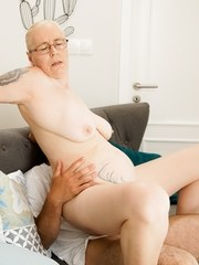 The stunning and horny grandma Violett returns for Robs big and hard cock! The hot