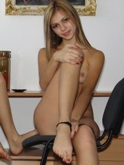 Teens sitting and exposing their fresh stuffs