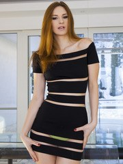 Russian redhead Ariadna is new to porn but love...