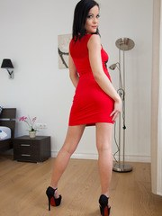 Beautiful brunette Dolly Diore is brandnew and ...