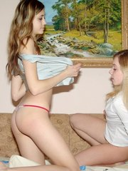 Teen girls looking so gamey cant help how they go on foreplay