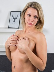 Let your eyes feast on 42 year old Queenie. This buxom Latvian housewife is ready