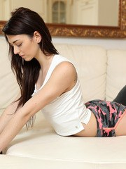 Hot little thing Tera Link is slim and athletic. She loves to show off her flexibility