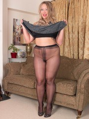 Here is Beth in curvy form in a scene of intense pantyhose indulgence. Teasing and