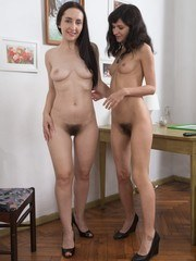 Efina and Di Devi are hanging pictures and feeling horny. The chore is done and they