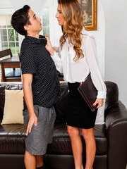 Insurance adjuster MILF Tara Ashley bangs her sexy client.