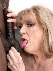 A 70-year-old GILF and a big young black cock