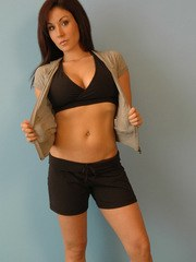Krissy shows how lots of exercise gave her the perfect body