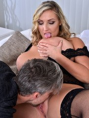 Cock craving mom Crystal Swift is decked out in lingerie that highlights her huge