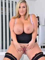 All natural mom Crystal Swift has a huge rack that no amount of demure clothing can