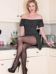 Heart of the sexy home is the kitchen and with a hot blonde like Lucy it is for sure