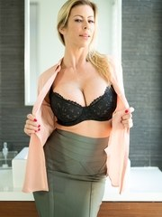 Businesswoman Alexis Fawx finds an unexpected guest in her bathroom--her husbands
