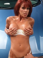 Nici Sterling has sex on a car