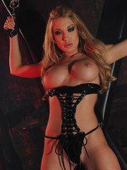 I love dressing up in hot leather outfits like this one. For