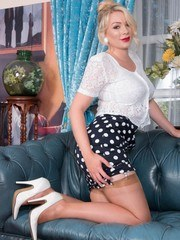 Pennys been waiting for you to come join her in drawing room dressed up in lacy blouse