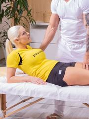 Big titted Blanche Bradburry receives a full anal massage