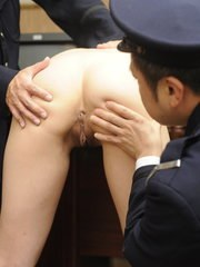 Slutty Asian babe gets used by horny guards