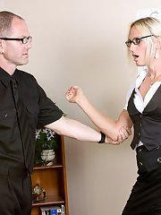 Lucia gets spanked for not doing her job. She show her boss how mush she respects