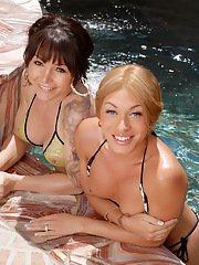 Mia Isabella having some good time in the pool with Danielle